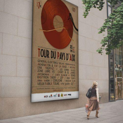 Tour du pays d'Aix - creation d'affiche